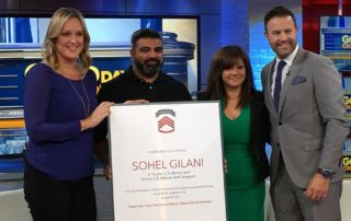 U.S. Marine Corps Veteran, Sohel Gilani, was awarded a Concrete Craft franchise on Veteran's Day 2017, valued at over $300,000, including the franchise, two-weeks training and $80,000 operating capital
