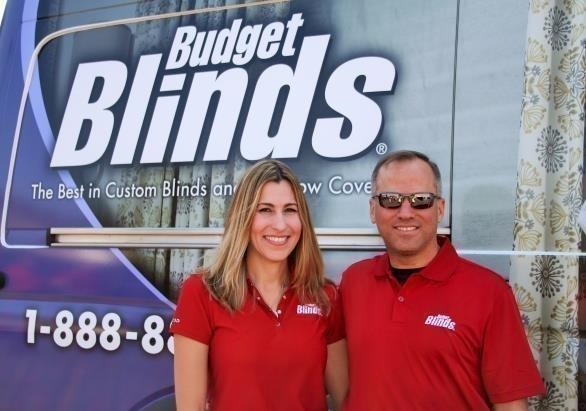 Ret. Lieutenant Colonel Luis Fontanez and wife, Griselle, franchise owners of Budget Blinds Serving River City