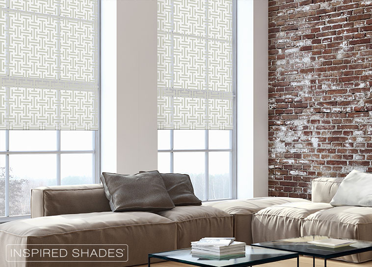 Classic-Livingroom-with-patterned-roller-shades-inspired-shades