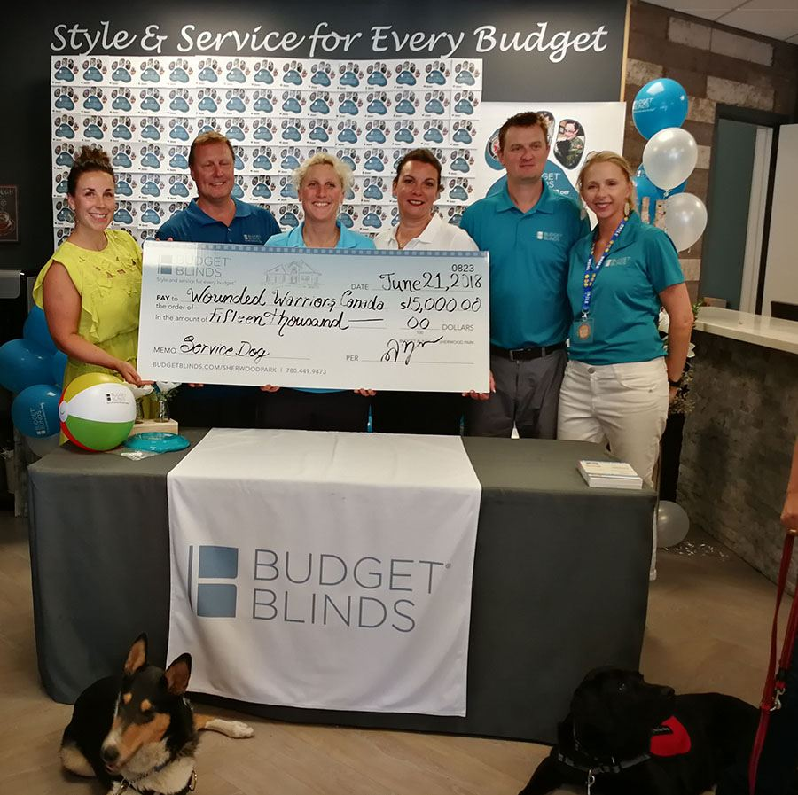 HFC- Budget Blinds Wounded Warriors Canada