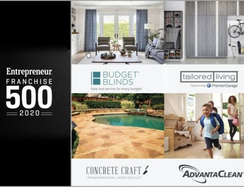 All Four Home Franchise Concepts Brands Rank in Entrepreneur Magazine's 2020 Franchise 500® List